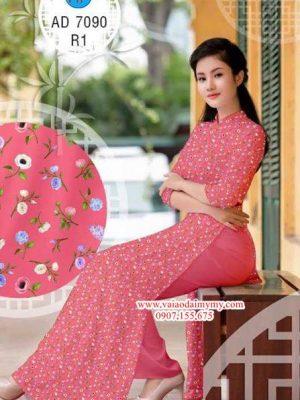Vải áo dài Hoa nhí dễ thương AD 7090