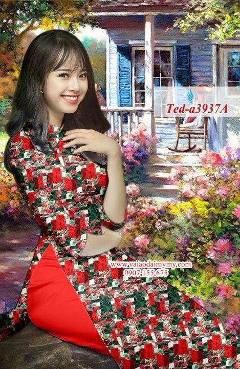 Vải áo dài hoa đều AD TED a3937 13