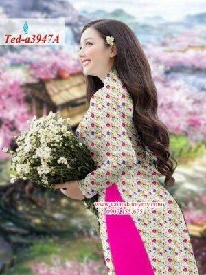 Vải áo dài hoa nhí AD TED a3947