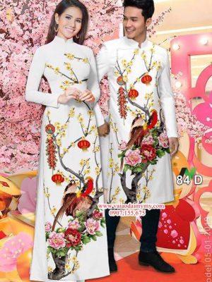 Vải áo dài cặp đôi đẹp AD IW 84