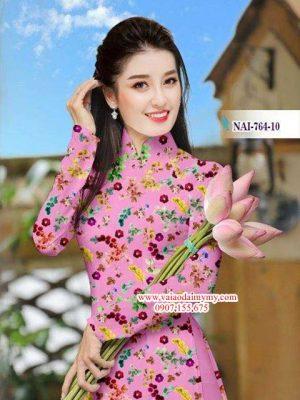 Vải áo dài hoa nhí AD NAI 764