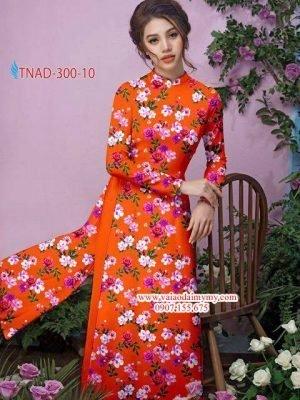 Vải áo dài hoa đều AD TNAD 300