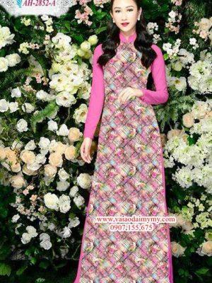 Vải áo dài hoa đều AD AH 2852