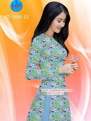 Vải áo dài Hoa đều AD 5496
