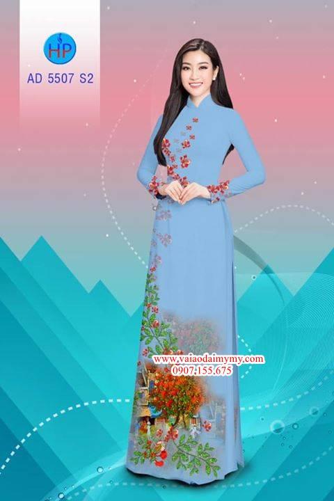 Vải áo dài hoa Phượng AD 5507 27