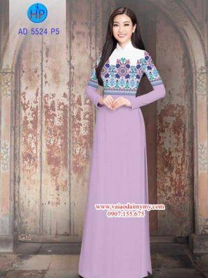 Vải áo dài Hoa văn đẹp sang AD 5524