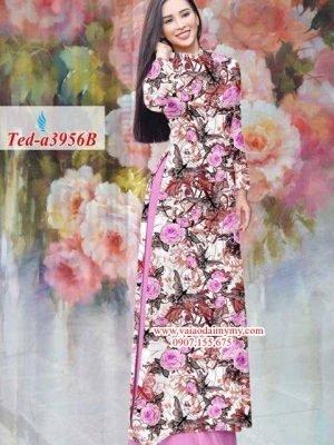 Vải áo dài hoa hồng đều AD TED a3956