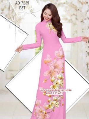 Vải áo dài Hoa Đào AD 7235