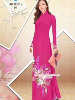Vải áo dài Hoa Lan AD B3819