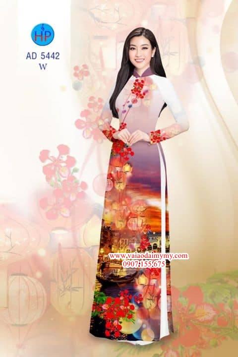 Vải áo dài Đêm hoa Phượng về trên Phố Cổ Hội An AD 5442