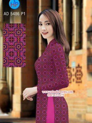Vải áo dài Hoa văn cô ba AD 5486