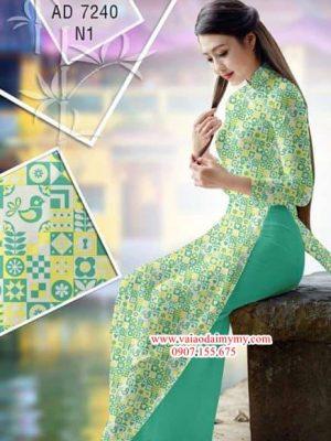 Vải áo dài Hoa văn cô ba sài gòn nhỏ xinh AD 7240