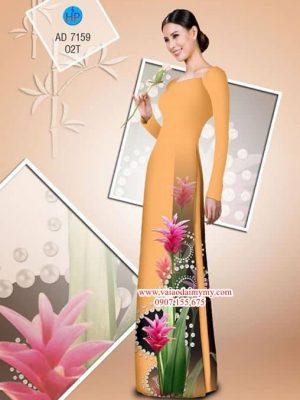 Vải áo dài Hoa lan AD 7159