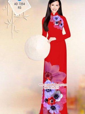 Vải áo dài Hoa Cúc AD 7254