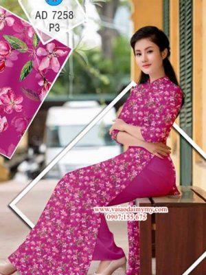 Vải áo dài Hoa nhỏ AD 7258