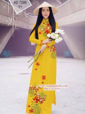 Vải áo dài Hoa Phượng AD 7289
