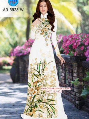 Vải áo dài Hoa Lan AD 5528