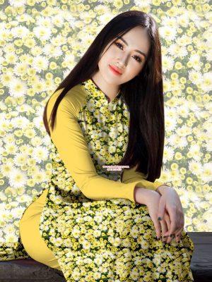 Vải áo dài hoa đều