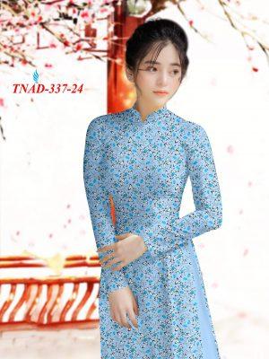 Vai Ao Dai Hoa Hong Nhỏ Xanh (14)