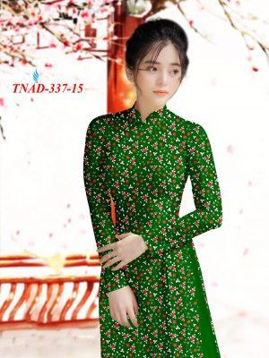 Vai Ao Dai Hoa Hong Nhỏ Xanh (15)