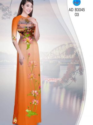 Vai Ao Dai Phong Canh Va Hoa Sen (17)