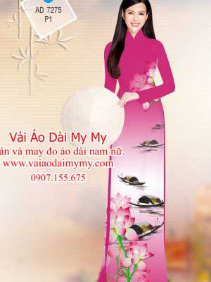 Vai Ao Dai Hoa Sen Va Phong Canh (18)