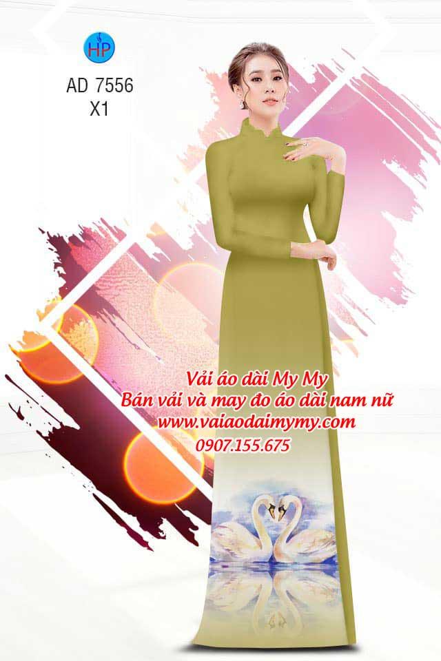Vải áo dài thiên nga AD 7556 9