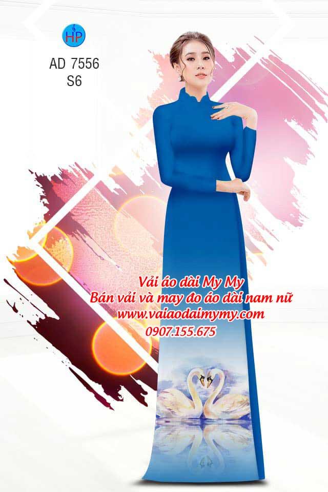 Vải áo dài thiên nga AD 7556 8