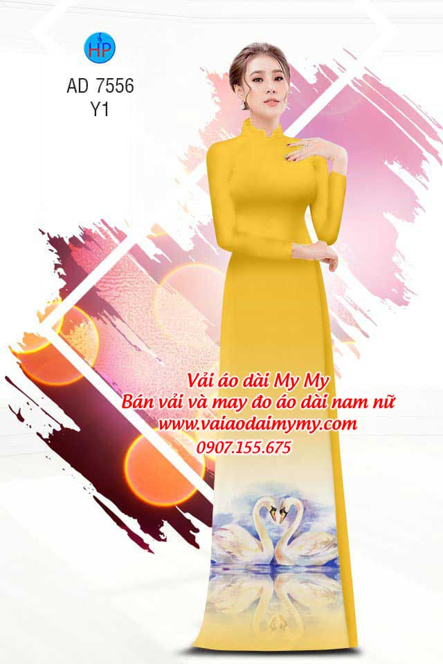 Vải áo dài thiên nga AD 7556 3