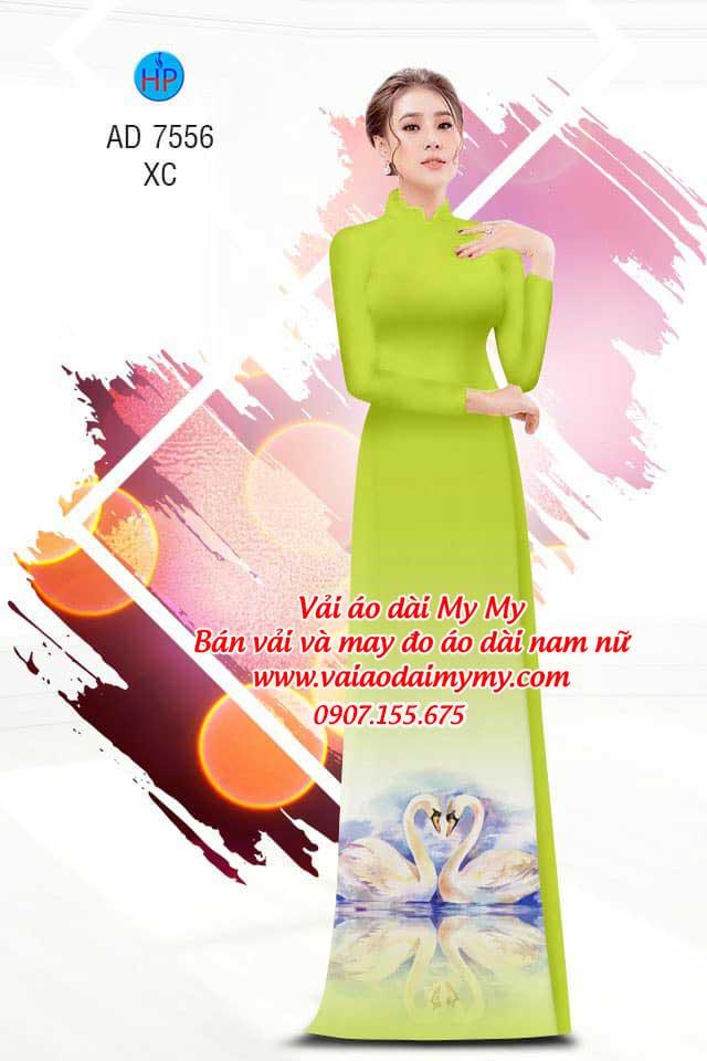 Vải áo dài thiên nga AD 7556 11