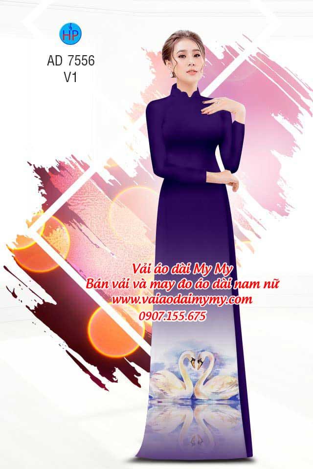 Vải áo dài thiên nga AD 7556 12