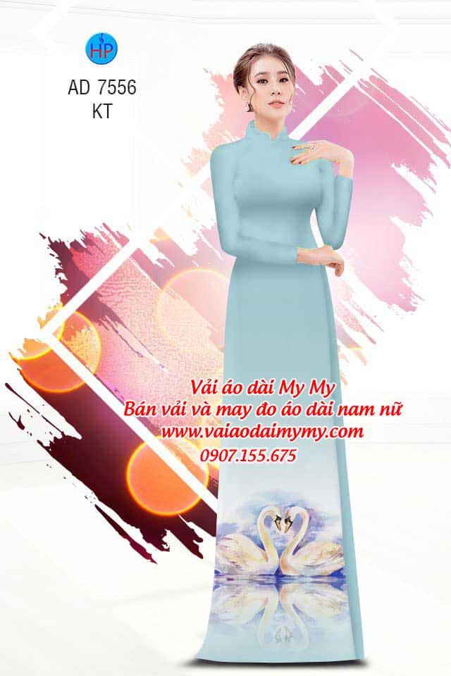 Vải áo dài thiên nga AD 7556 13