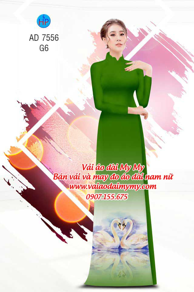 Vải áo dài thiên nga AD 7556 18