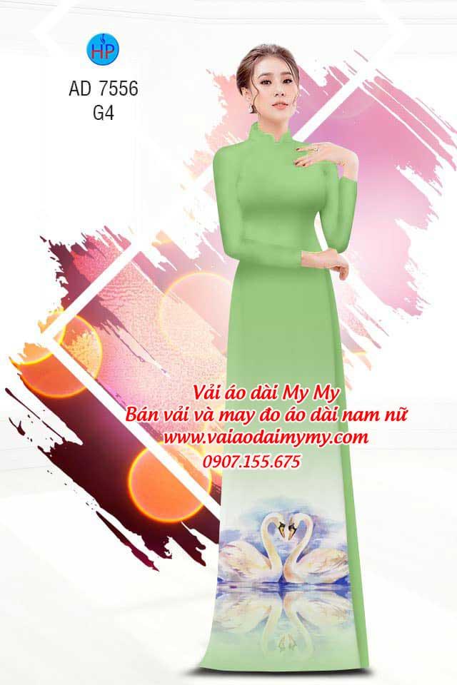 Vải áo dài thiên nga AD 7556 14