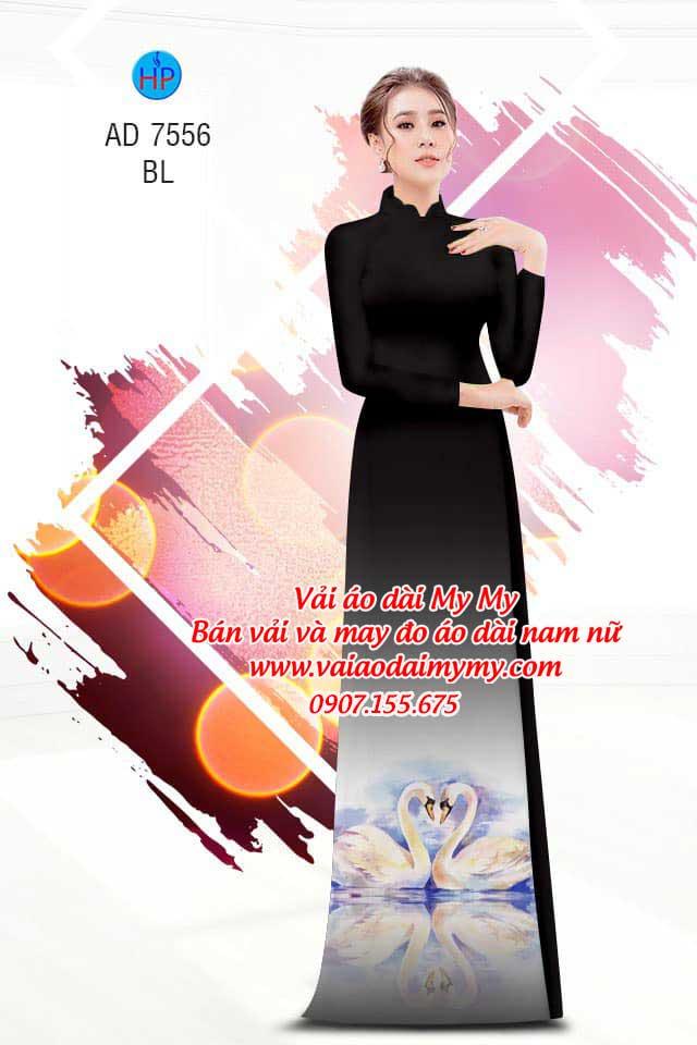 Vải áo dài thiên nga AD 7556 15