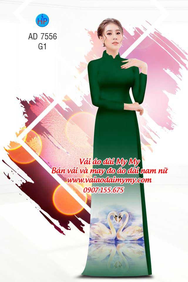 Vải áo dài thiên nga AD 7556 16