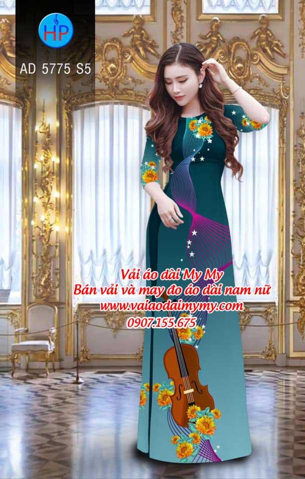 Vải áo dài Đàn và hoa AD 5775 8