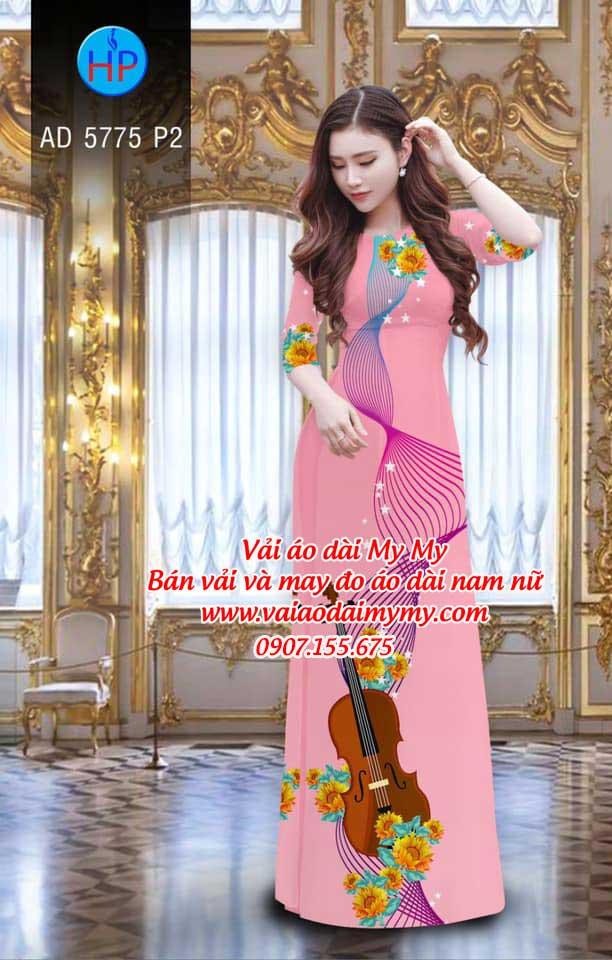 Vải áo dài Đàn và hoa AD 5775 18