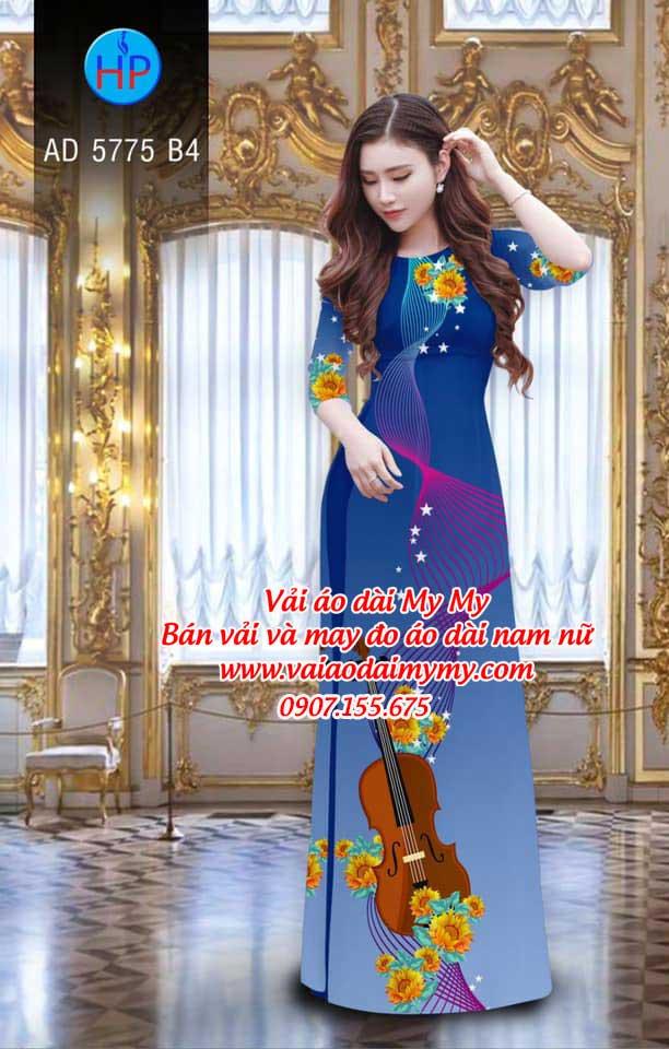 Vải áo dài Đàn và hoa AD 5775 14