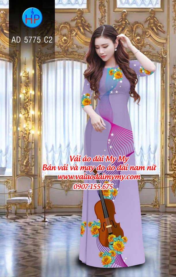 Vải áo dài Đàn và hoa AD 5775 15