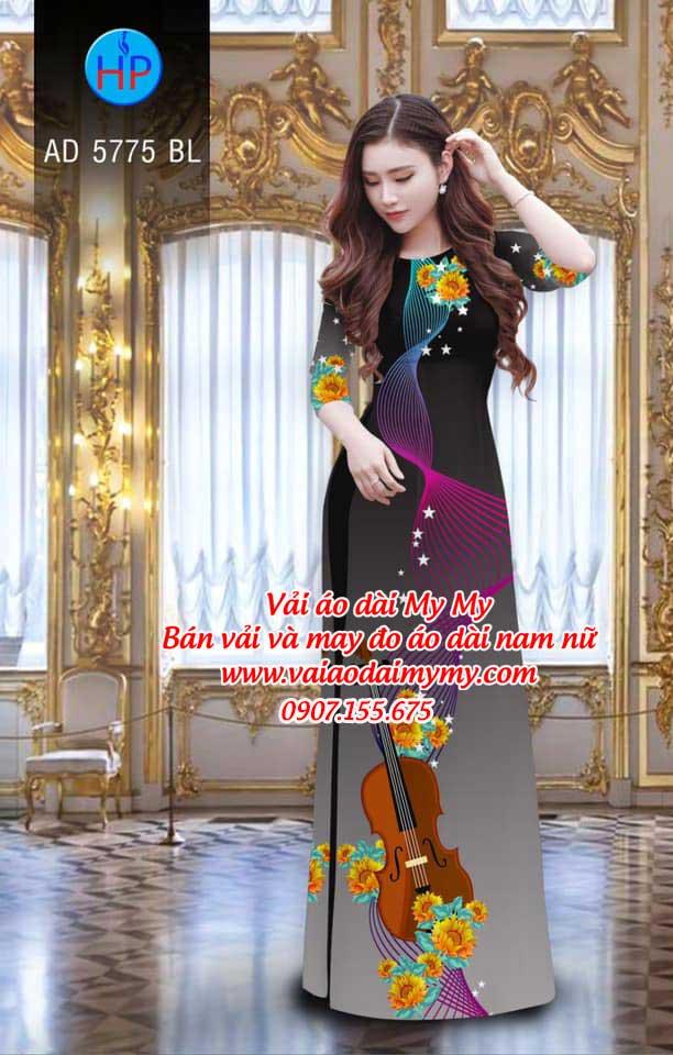 Vải áo dài Đàn và hoa AD 5775 17