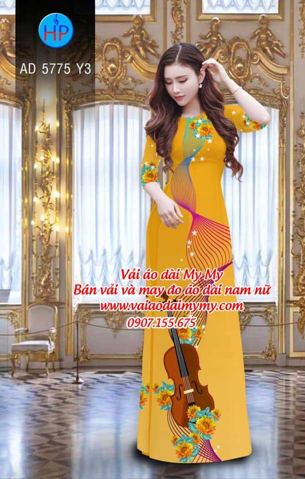 Vải áo dài Đàn và hoa AD 5775 16