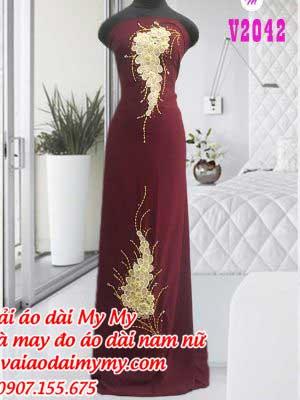 Vai Ao Dai Dinh Chum Nho Sang Trong