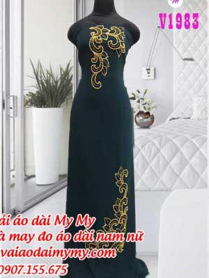 Vai Ao Dai Dinh Hat Tron Sang Trong