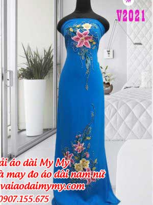 Vai Ao Dai Dinh Hoa Ly Dep