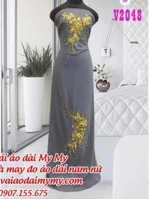 Vai Ao Dai Dinh Hoa Ruc Ro