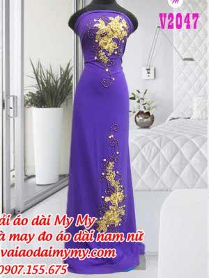 Vai Ao Dai Dinh Hoa Sang Trong