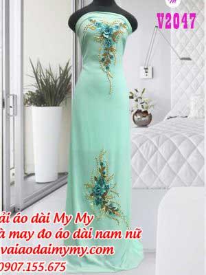 Vai Ao Dai Dinh Hoa Sang Trong Quy Phai