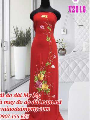 Vai Ao Dai Theu Hoa Dep