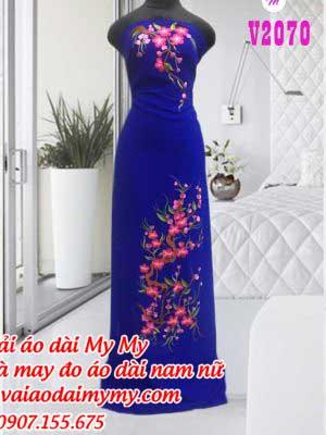 Vai Ao Dai Theu Hoa Mau Moi